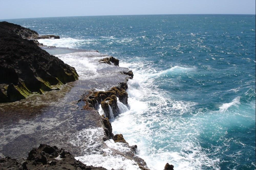 A especular praia protegida de Puerto Novo