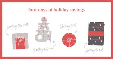 Four Days of Savings - Christmas Template