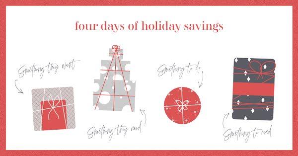 Four Days of Savings - Christmas Template