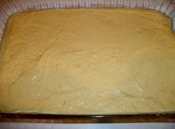Add eggs, buttermilk and vanilla; stir well.  Spread half of batter into a greased 9x13...