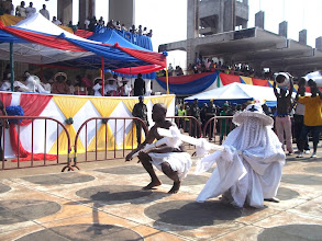 Photo: Eyo Olokun pays homage with a dance style