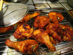 Photo: chicken after first frying