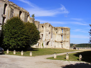 Photo: The town's main attraction is the remains of a great castle facade. The late 14th century castle was in fact never completed (following the assassination of its owner, the Duke of Orleans, in 1407), and all but the facade was razed late in the 16th century.