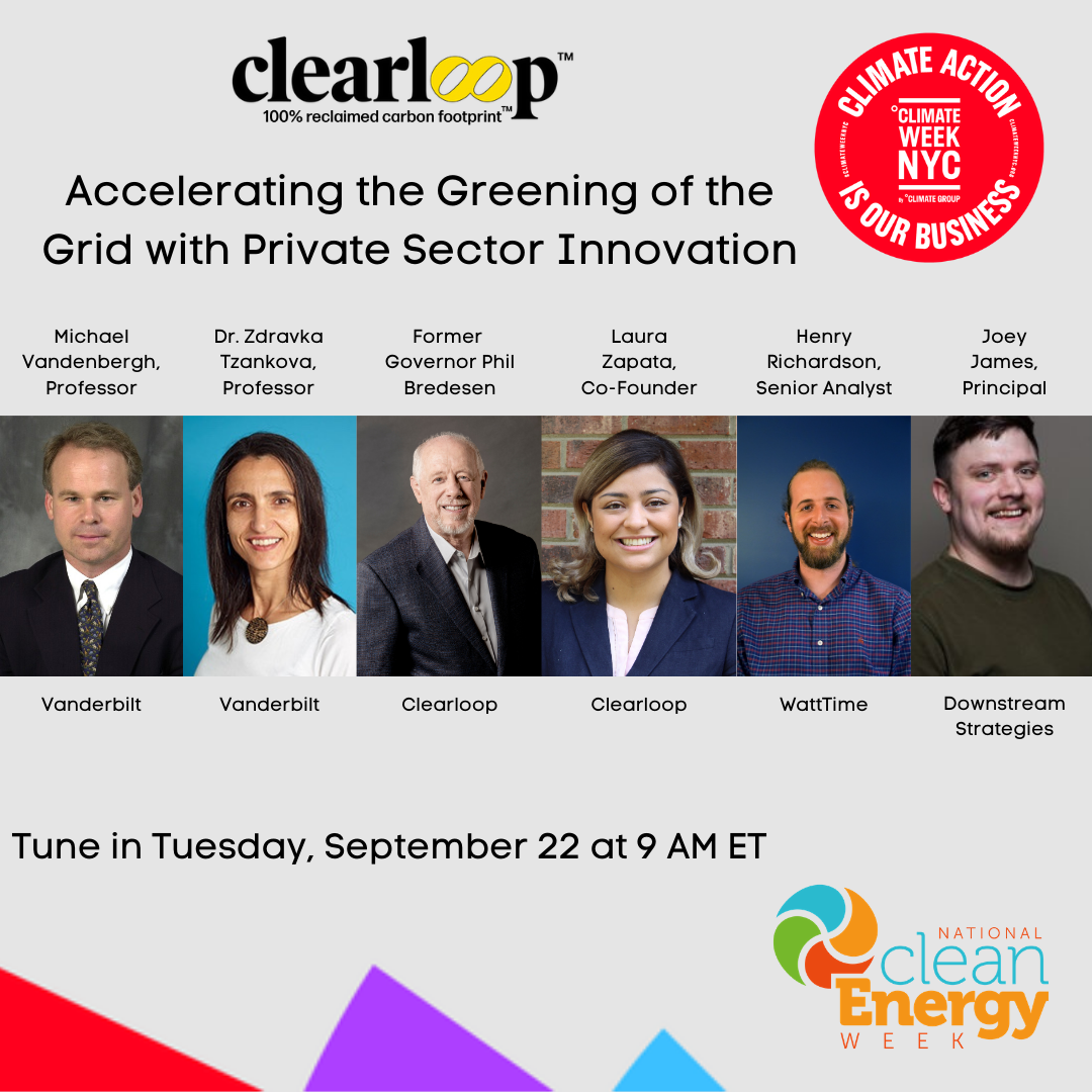 Clearloop joining other experts for panel to discuss how the private sector can affect climate change