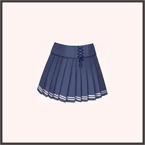 ハイウエスト紺スカート