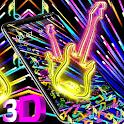 Neon Guitar 3D Gravity Theme🎸 icon