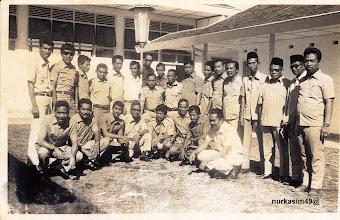 Photo: Para Kepala Kecamatan Wilayah dan staf Sub Direktorat Pemerintahan Kotamadya Dati II Ujung Pandang.