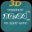 3D Digital Clock LWP Free icon