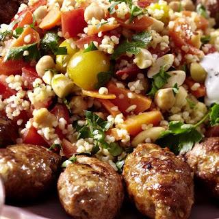 Lamb Rissoles with Bulgur Wheat Salad and Mint Yogurt