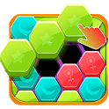 Hexa Jigsaw Puzzle Games:Free Block Games for kids icon