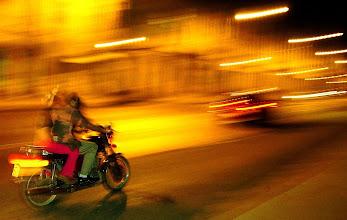 Photo: motorcycle at night. cuba. Tracey Eaton photo