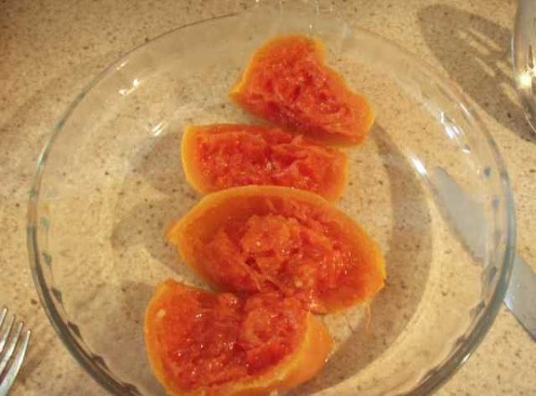 Remove the grapefruit and cut into quarters.  Gently scrap off the pith and...