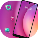 Colorful theme Red art bubble Jio phone 3 icon