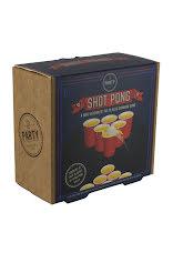 shot pong låda med bild på glasen