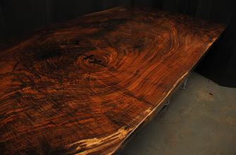 "Photo: 53 x 13'6""    http://dorsetcustomfurniture.blogspot.com/2015/09/big-piece-of-claro-walnut.html"