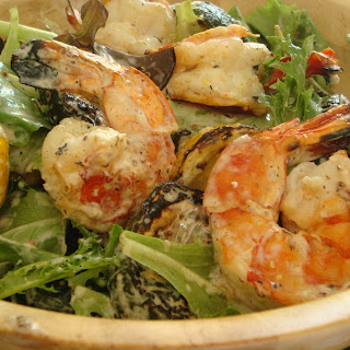 Prawn, Zucchini (Courgette) and Lemon Salad.
