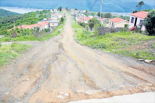 JOB NOT DONE: Nyoni Projects was roped in by BCM in August to tar roads in NU16, but residents say the company dug up the road and left without carrying out the work Picture: SINO MAJANGAZA
