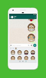 Monkey Stickers for WhatsApp (WAStickerApps) 6