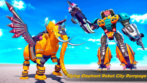 Flying Elephant Robot Transform: Flying Robot War 1.1.1 Screenshots 18