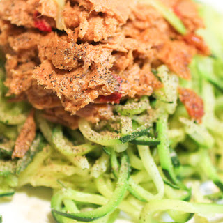 Zucchini Spiral Pasta with Tuna Recipe