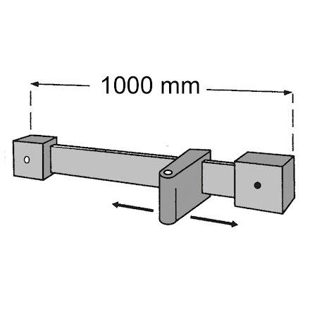 Fästanordning Skena Simplex Sticklampa