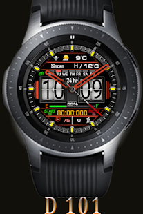 D 101 Digital Watch Face For WatchMaker Users Screenshot