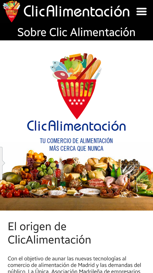 ClicAlimentación- screenshot