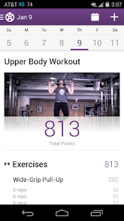 Fitocracy Workout Fitness Log Screenshot