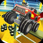Blocky Monster Truck: Stunts Arena