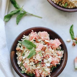Watermelon Feta and Mint Quinoa Salad Recipe