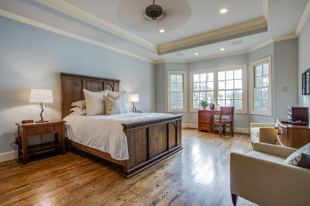 before master bedroom west highland park dallas home renovation and staging