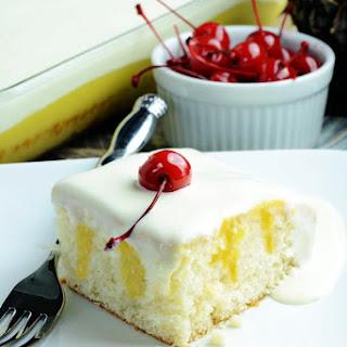 Dole Whip Poke Cake