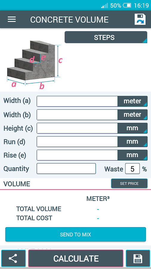 Concrete Slab Calculator : Concrete calculator android apps on google play