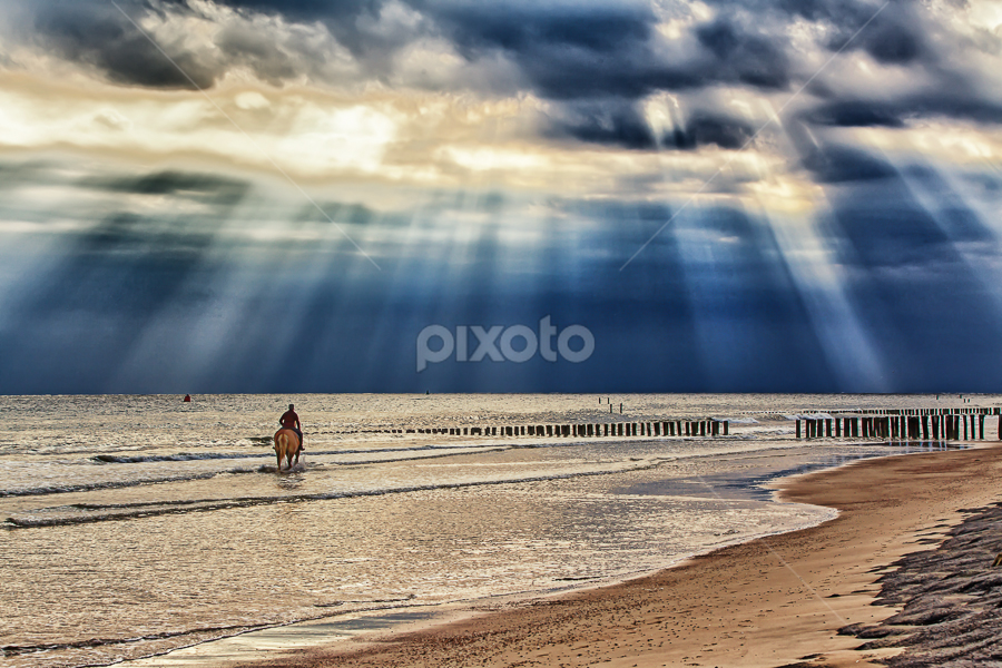 captured moments #2 by  pemavis Photography - Landscapes Beaches ( horseback riding, thunderstorm, sea, beach )