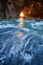Photo: Here is kind of an odd one for #SunsetSaturday. This was taken at sunset inside of a large sea tunnel on the Oregon Coast. I made the trip out there with +Dustin Gent and two other friends who aren't on gplus. We had a great time dodging the waves. I had a bit of a close call when I tried to venture out deep in to the surf right when the biggest wave of the day came in. Thankfully I had a spotter who yelled at me to get out. After that I was a bit more timid and was happy to get the streaks you see here from a much safer distance.