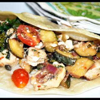 Chicken Wraps with a Mediterranean Flair.