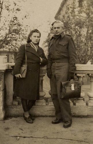 Фаня и Яков Басс. Италия, 1946 год
