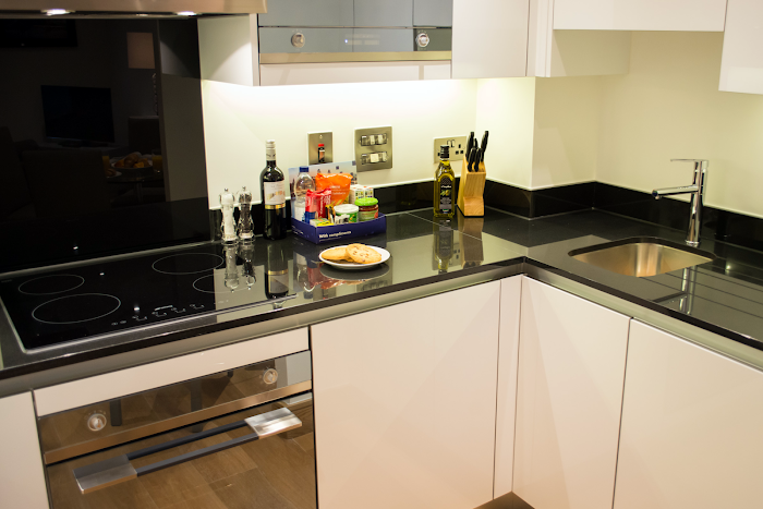 Fully equipped kitchen at Durweston Street Apartments