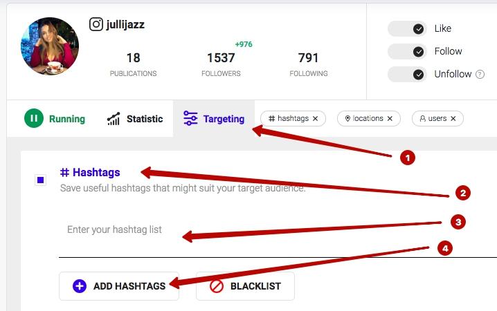 Ingramer settings for Instagram promotion 20