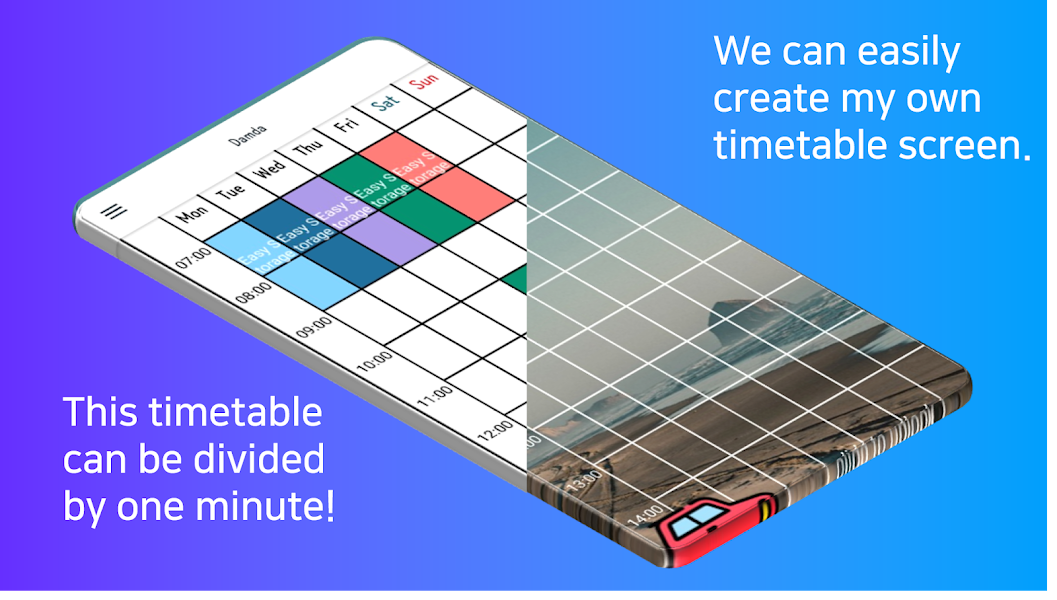 Timetable Planner with alarm for study - Damda