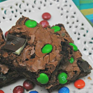 Mint M&M Brownies