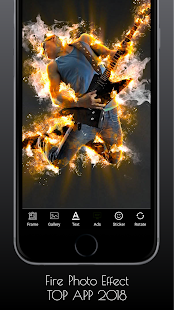 After Effects Fire Photo Editor - náhled