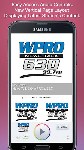 News Talk 630 WPRO 99.7 FM