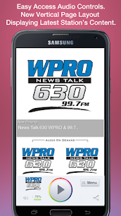 News Talk 630 WPRO & 99.7 FM- screenshot thumbnail