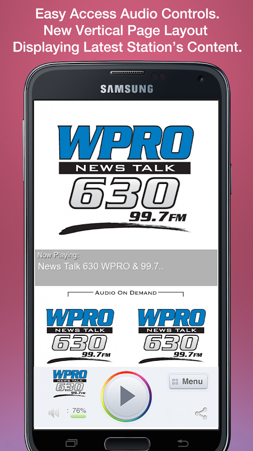 News Talk 630 WPRO & 99.7 FM- screenshot