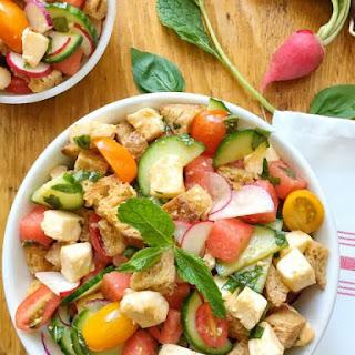 Sunny Summer Panzanella Salad.