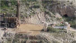 Imagen de las perforaciones descubiertas en la zona de Góchar.
