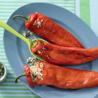 Stuffed Peppers with Rice.