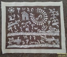 Photo: Warli Painting On Canvas  (Art Type SD)