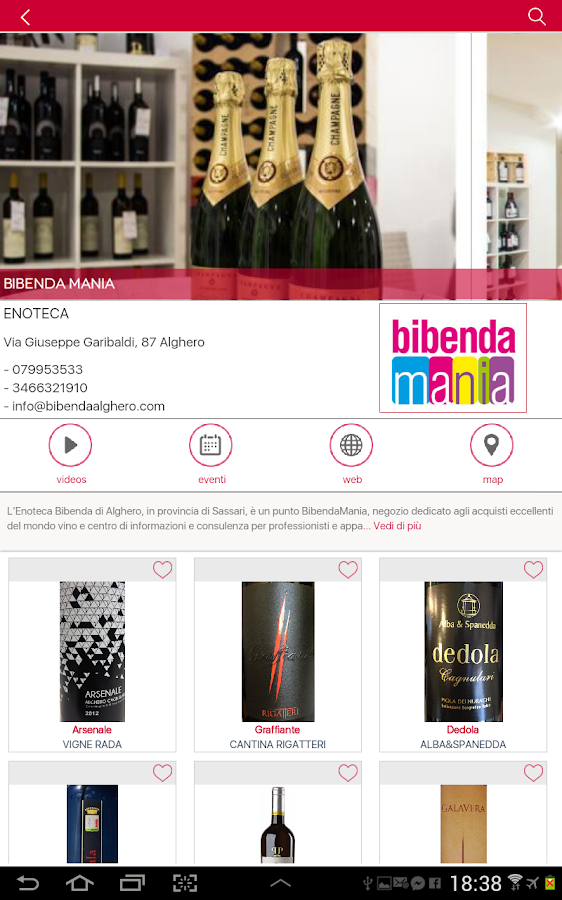 WinePIX - sardinia wines- screenshot
